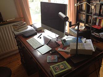 La scrivania di Francesco Dimitri